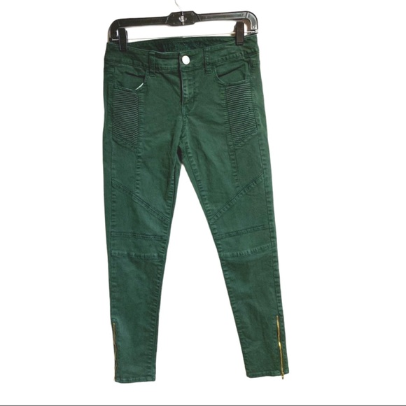 AEO Green Skinny Jeans Jeans Stretch Size 4